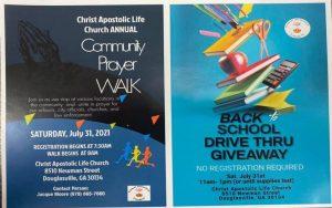 Back to School Drive Thru Giveaway @ Christ Apostolic Life Church